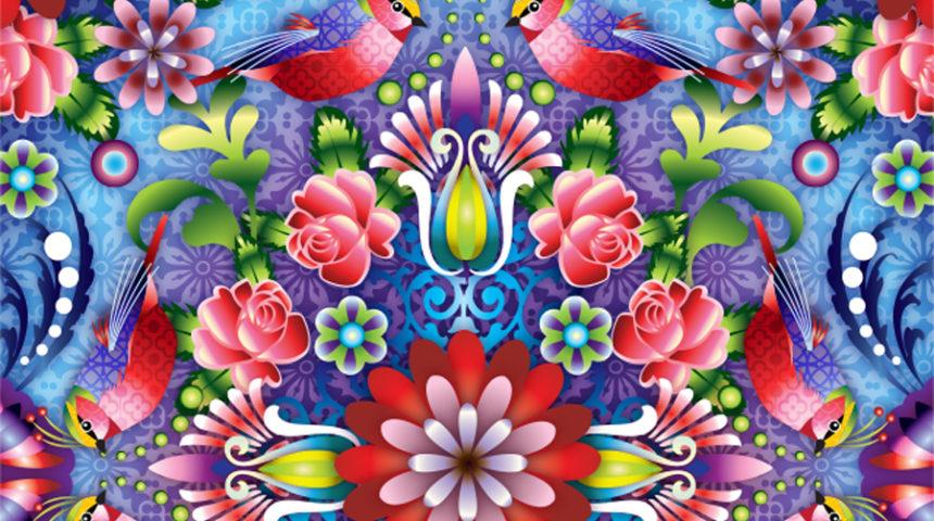 Estampas de Catalina Estrada inspirando o visual merchandising