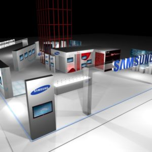 Stand Samsung Super Casas Bahia